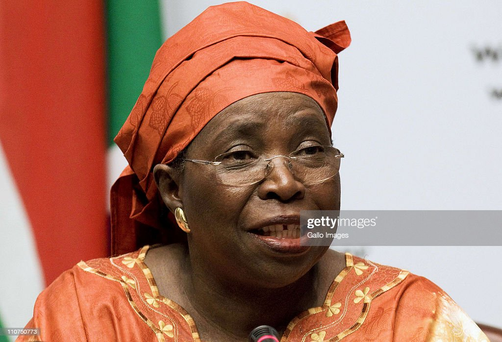 South African Minister of Home Affairs <a gi-track='captionPersonalityLinkClicked' href=/galleries/search?phrase=Nkosazana+Dlamini-Zuma&family=editorial&specificpeople=752696 ng-click='$event.stopPropagation()'>Nkosazana Dlamini-Zuma</a> addresses the media on March 22, 2011 in Cape Town, South Africa. about the decision to go forth with the Immigration Ammendment Bill.