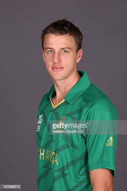 South African Morne Morkel poses at a portrait session ahead of the ICC T20 World Cup on September 16 2012 in Colombo Sri Lanka