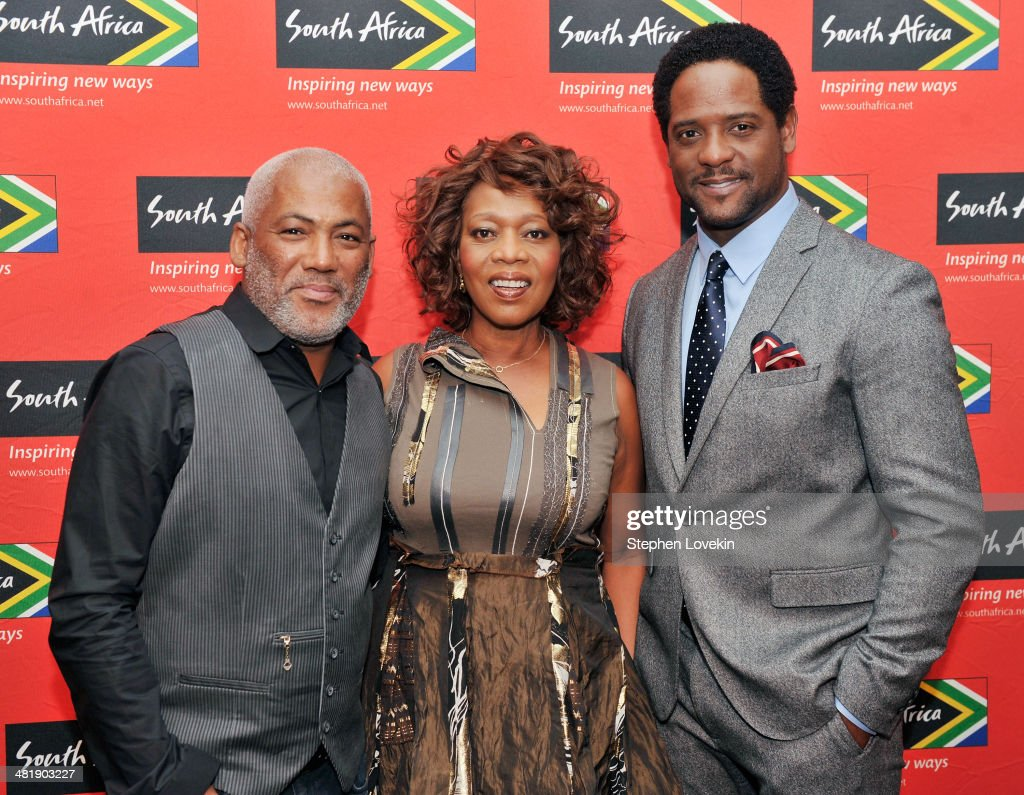 South African musician Jonathan Butler, actress <a gi-track='captionPersonalityLinkClicked' href=/galleries/search?phrase=Alfre+Woodard&family=editorial&specificpeople=220969 ng-click='$event.stopPropagation()'>Alfre Woodard</a>, and actor <a gi-track='captionPersonalityLinkClicked' href=/galleries/search?phrase=Blair+Underwood&family=editorial&specificpeople=215367 ng-click='$event.stopPropagation()'>Blair Underwood</a> attend the 2014 Ubuntu Awards at Gotham Hall on April 1, 2014 in New York City.