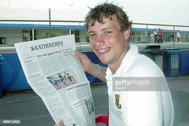 South African paralympic champion Oscar Pistorius on September 22 2004 in Greece Athens
