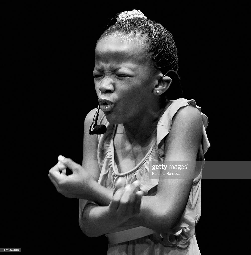 South African poet Botlhale Boikanyo performs during The Nelson Mandela Legacy Of Hope Foundation Event at Gotham Hall on July 18, 2013 in New York City.