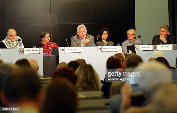 South African politician Ronnie Kasrils Indian environmental activist Vandana Shiva English socialist Michael Mansfield Egyptian novelist Ahdaf...