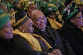 South African president and South African ruling party African National Congress president Jacob Zuma attends a Municipal elections campaign event on...