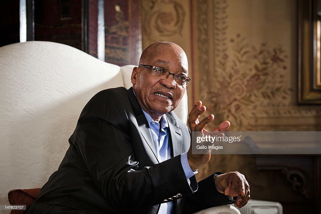 South African president Jacob Zuma poses for a portrait on July 3, 2012 in Pretoria, South Africa.