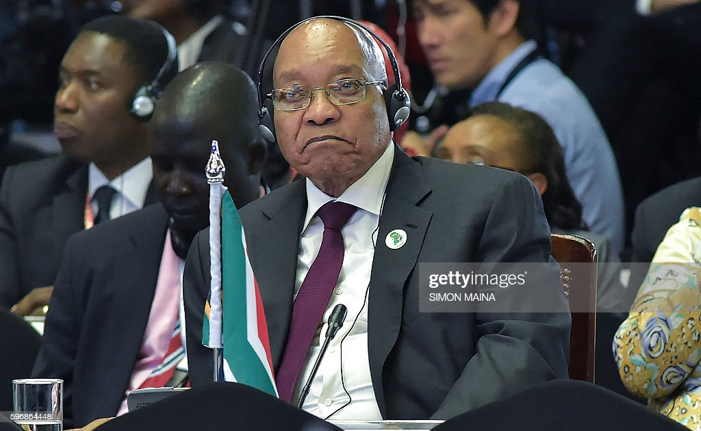 South African President Jacob Zuma takes part in the High level meeting during the the TICAD conference in August 28 2016 Nairobi Japan will pour $30...