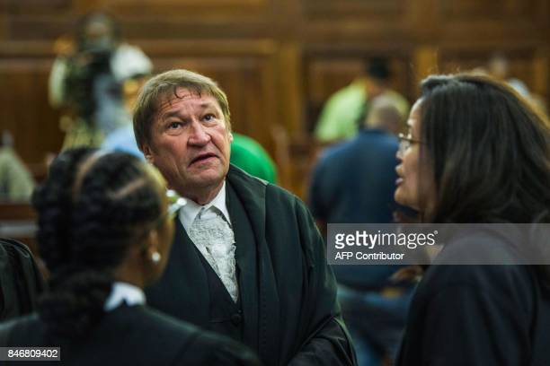 South African president's lawyer Kemp J Kemp attends the spy tape case at the Supreme Court of Appeal in Bloemfontein on September 14 2017 South...