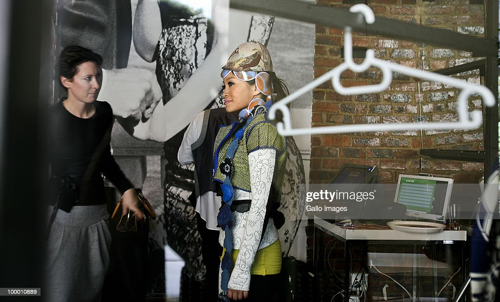 South African radio DJ Jen Su dressed by designer Guillotine takes part in a South African Fashion Week event in Johannesburg, South Africa on 18 May 2010 where all the clothes were inspired by the coming Fifa World Cup which will be hosted by South Africa in June 2010.