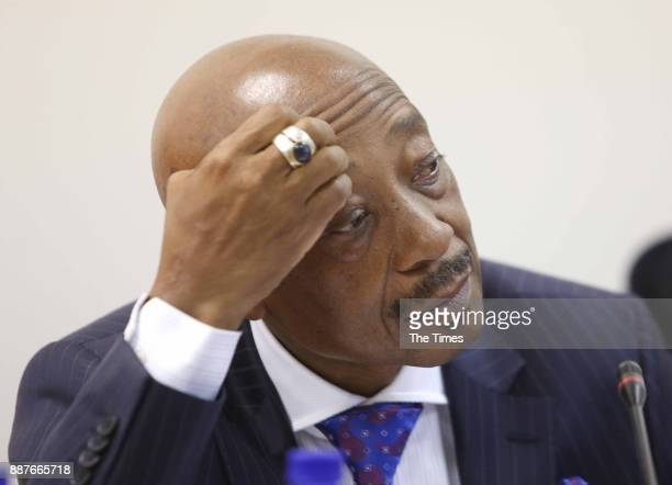South African Revenue Services commissioner Tom Moyane during his appearance before Parliaments finance committee on November 28 2017 in Cape Town...