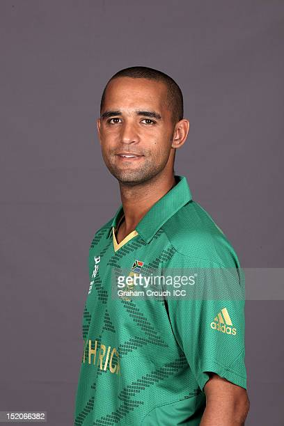 South African Robin Pietersen poses at a portrait session ahead of the ICC T20 World Cup on September 16 2012 in Colombo Sri Lanka
