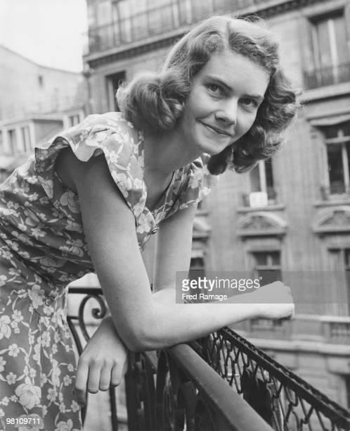 South African secretary Jacqueline Theron Paris 8th August 1946 Theron the daughter of South African diplomat Major General FH Theron is working with...