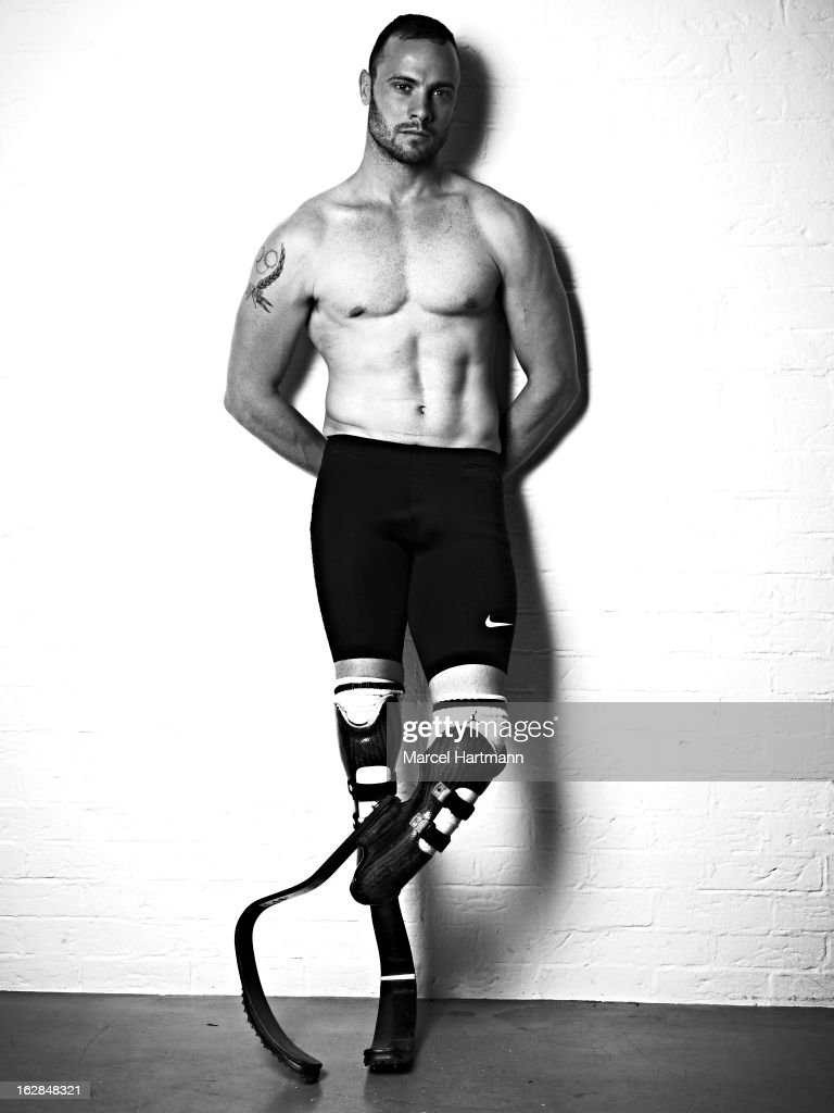 South African sprinter <a gi-track='captionPersonalityLinkClicked' href=/galleries/search?phrase=Oscar+Pistorius&family=editorial&specificpeople=224406 ng-click='$event.stopPropagation()'>Oscar Pistorius</a> is photographed for the April 2012 issue of Marie Claire France in Paris, France.
