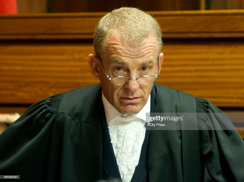 South African State Prosecutor Advocate Gerrie Nel in the Pretoria Magistrate Court during Oscar Pistorius's bail hearing on February 21 2013 in...