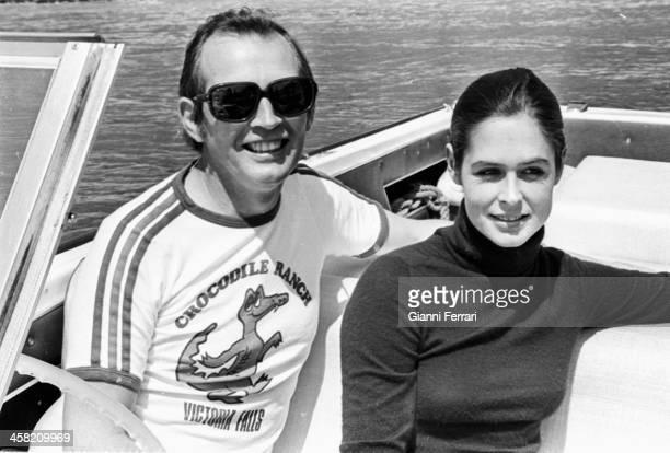 South African Surgeon Christiaan Barnard with his wife Barbara in the 'Pantano de San Juan' Madrid Castilla La Mancha Spain
