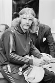 South African tennis player Raymond Moore at the Hurlingham Club preWimbledon party London UK 20th June 1971