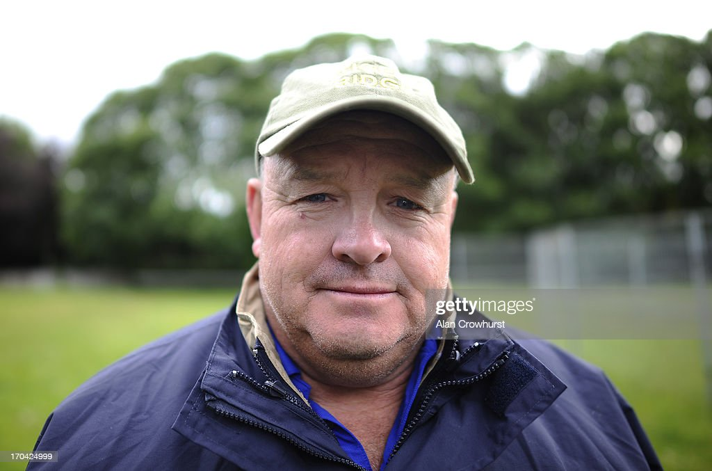 South African trainer Mike de Kock poses on June 13, 2013 in Newmarket, England.