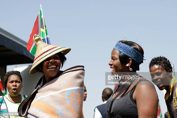 South African woman is in her costumes during the 'Heritage Day' celebrations at the Boipatong Stadium in Johannesburg largest city of South Africa...
