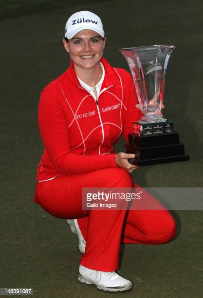 South African Women's Open Champion Caroline Masson of Germany during day 3 of the South African Womens Golf Open at Selborne Country Club on July 15...