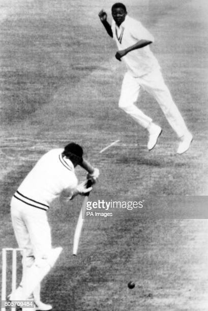 South Africanborn Hampshire cricketer Barry Richards opening the batting for the International Cavaliers in a oneday cricket match against...