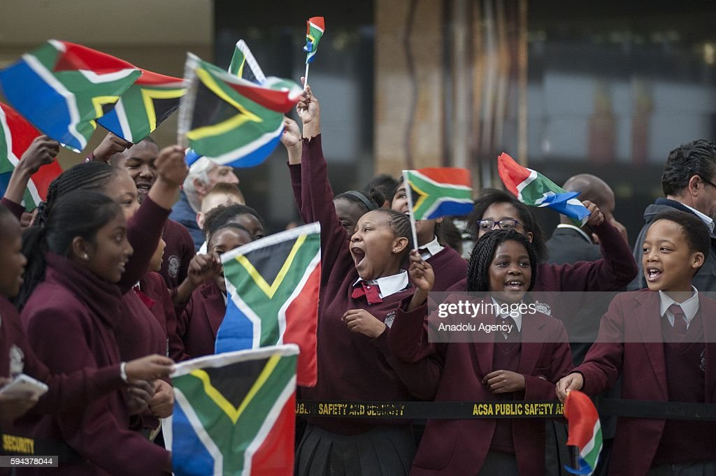 South Africans welcome team of South Africa during their arrival from Rio 2016 Olympic Games at O. R. Tambo International Airport in Gauteng province of Johannesburg, South Africa on August 23, 2016. South Africa team won two gold, six silver and two bronze medals in Rio 2016 Olympic Games.
