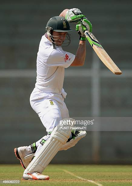 South Africa's AB de Villiers plays a shot on the final day of a twoday cricket match between an Indian Board President's XI and South Africa at The...