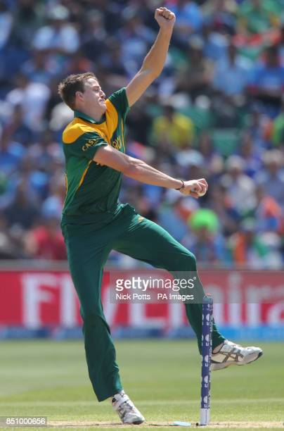 South Africa's bowler Morne Morkel on opening day of the ICC Champions Trophy against India The SWALEC Stadium Cardiff