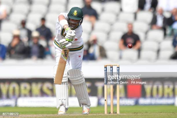 South Africa's Dean Elgar is caught behind for 5 runs during day four of the Fourth Investec Test at Emirates Old Trafford Manchester