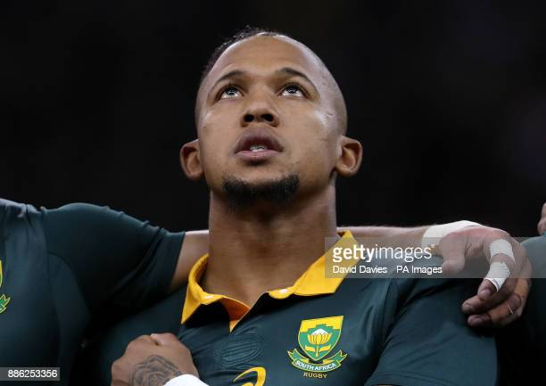 South Africa's Elton Jant Jies during the Autumn International at the Principality Stadium Cardiff