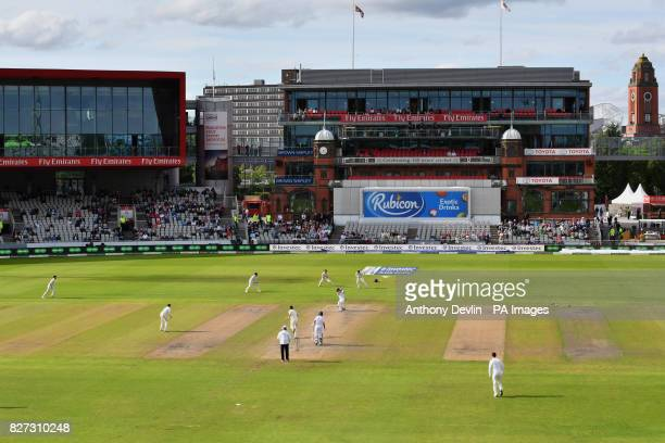 South Africa's Faf du Plessis is caught behind for 61 runs during day four of the Fourth Investec Test at Emirates Old Trafford Manchester