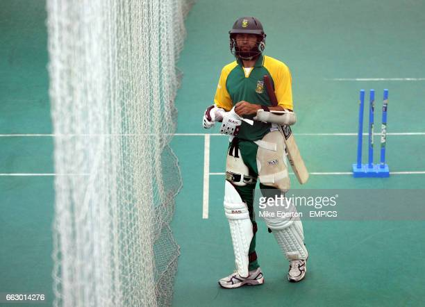 South Africa's Hashim Amla during nets practice