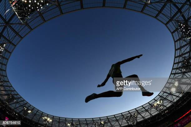 South Africa's Luvo Manyonga competes in the final of the men's long jump athletics event at the 2017 IAAF World Championships at the London Stadium...