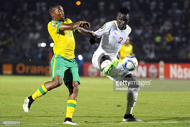 South Africa's Sibusiso Vilakazi vies for ball with Senegal's Serigne Kara Mbodji during the 2015 African Cup of Nations Group C football match...