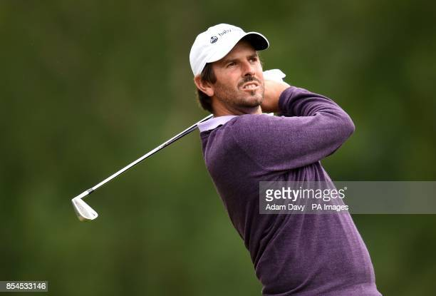 South Africa's Thomas Aiken during day two of the BMW PGA Championship at the Wentworth Club Surrey