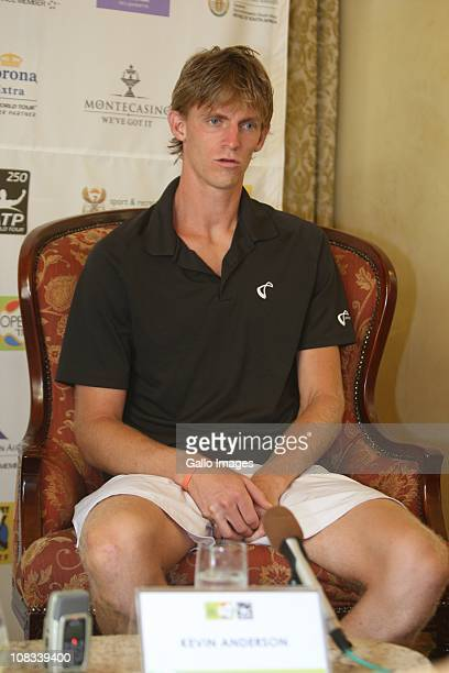 South Africa's top tennis player Kevin Anderson speaks to the media ahead of next week's SA Open held at Montecasino on 25 January 2011 in...