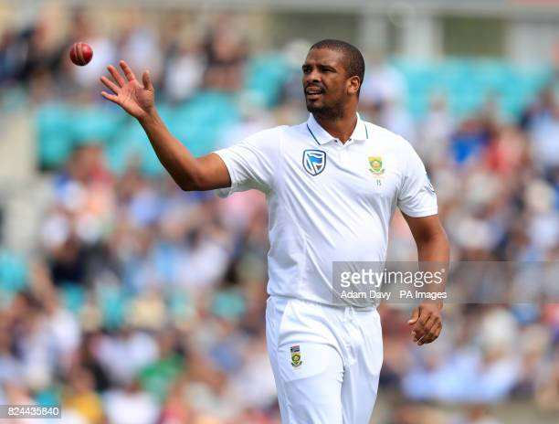 South Africa's Vernon Philander during day four of the 3rd Investec Test match at the Kia Oval London