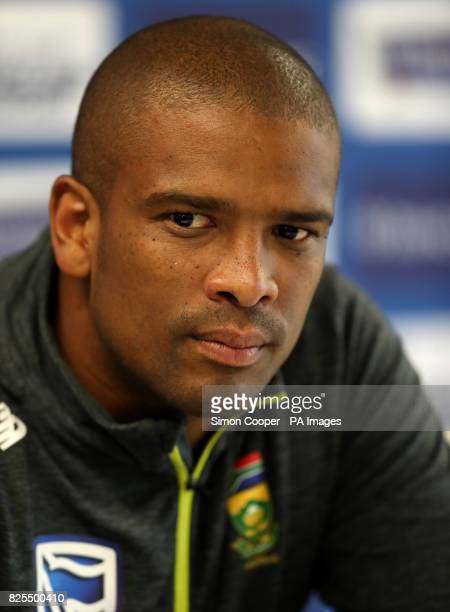 South Africa's Vernon Philander during the press conference at Emirates Old Trafford Manchester