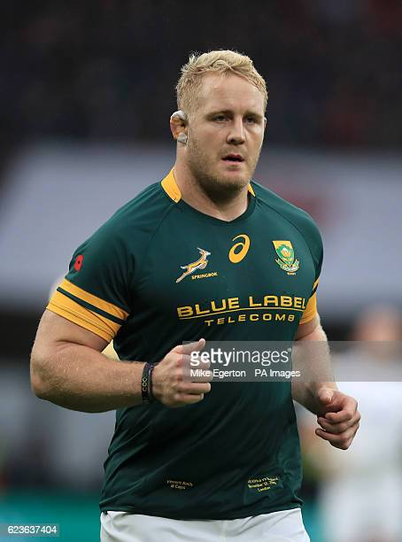 South Africa's Vincent Koch during the Autumn International match at Twickenham Stadium London