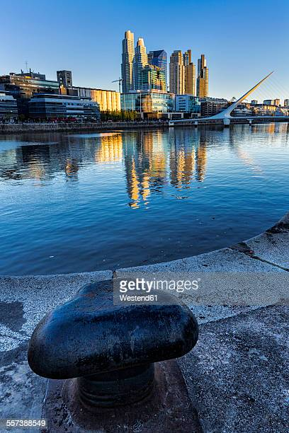 South America, Argentina, Buenos Aires, dock area in the evening