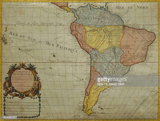 South America by Guillaume de l'Isle Paris 1700 Engraving