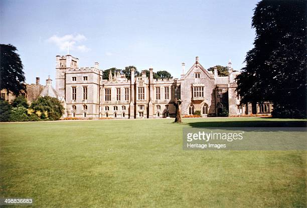 South aspect of Newstead Abbey Nottinghamshire 1965 The abbey was founded between 1163 and 1173 by Henry II as a priory of Augustinian Canons with...