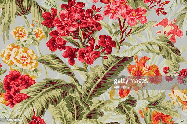South Beach Floral Close Up Vintage Fabric