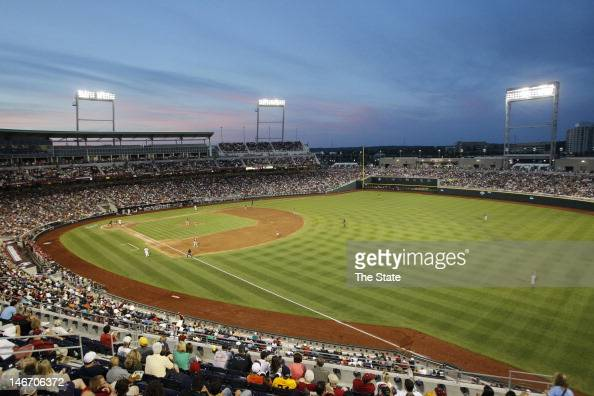 South Carolina and Arkansas play in the 2012 College World Series at TD Ameritrade Park in Omaha Nebraska Friday June 22 2012