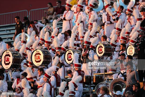South Carolina Gamecocks Marching Band as the evening grows dark during the game between the South Carolina Gamecocks and the Kentucky Wildcats on...