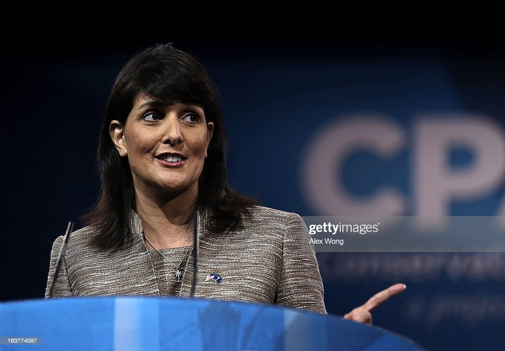 South Carolina Governor Nikki Haley speaks during the second day of the 40th annual Conservative Political Action Conference March 15 2013 in...