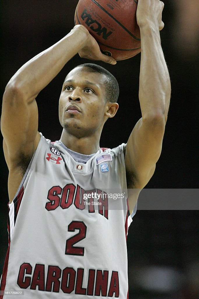 South Carolina's Brian Richardson drains a free throw in the first half against Louisiana State at Colonial Life Arena in Columbia, South Carolina, on Thursday, February 14, 2013. LSU pulled away for a 64-46 win.