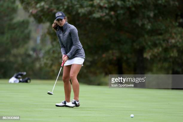 South Carolina's Marion Veysseyre on the 10th green during the first round of the Ruth's Chris Tar Heel Invitational Women's Golf Tournament on...