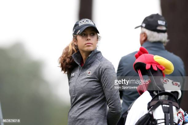 South Carolina's Marion Veysseyre on the 10th tee during the first round of the Ruth's Chris Tar Heel Invitational Women's Golf Tournament on October...