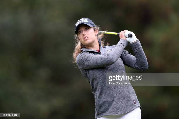 South Carolina's Marion Veysseyre on the 11th tee during the first round of the Ruth's Chris Tar Heel Invitational Women's Golf Tournament on October...