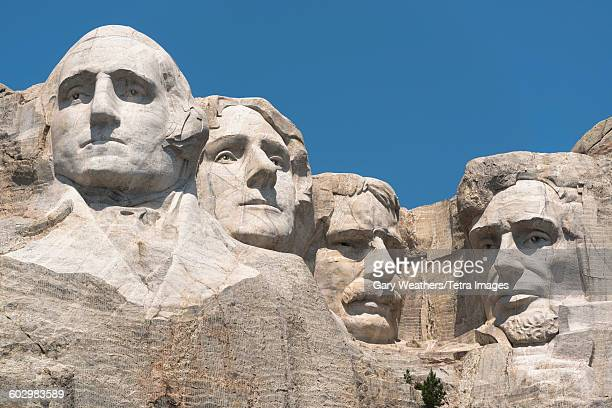 USA, South Dakota, Mount Rushmore against clear sky