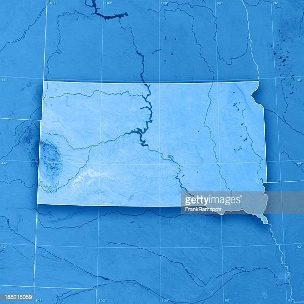 Sud Dakota mappa topografica