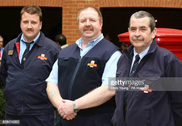 South East award winners Jim Holt Paul Rigden and Mark Copeland at the Royal Mail's 1st Class People Awards in central London on Monday March 27 2006...